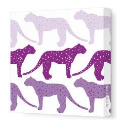 Avalisa - Animal - Cheetah Stretched Wall Art, 12cm x 12, Purple Hue - Who said cheetahs never win? This winning wall hanging comes in your choice of color combinations and sizes so you can hang it easily with pride. Snap this one up. Cheetahs move pretty fast.