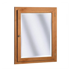 "Coastal Collection - Salerno Series 24"" x 30"" Maple Surface Mount or Recessed Medicine Cabinet in Cid - Features: -Medicine cabinet. -Salerno Series collection. -Cider finish. -Solid maple doors. -Can be surface or recess mount for easy installation. -1"" Beveled mirror. -Door and shroud are built to last. -Six way adjustable concealed hinges. -Custom designed packaging for secure shipment to your home. -Made in USA. -Overall dimensions: 30"" H x 24"" W x 5"" D."