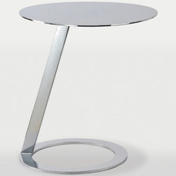 Ren-Wil - Odyssey Accent Table in Chrome Finish - Make any space epic with this high-shine modern end table. Constructed of metal and chrome and defies the laws of physics.