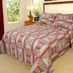 Lavish Home - Lavish Home Melissa Quilt Set Multicolor - 66-10004-T - Shop for Bedding Sets from Hayneedle.com! With its pretty patchwork and comforting quilt the Lavish Home Melissa Quilt Set is a cozy choice for your guest bedroom or dorm room. Like a hug from home the quilt is made of soft polyester with a cotton-and-poly blend fill. One matching pillowcase comes with the twin size and two come with all other sizes.Dimensions:Twin: 68 x 86 in.Full / Queen: 86 x 86 in.King: 101 x 86 in.About Trademark Global Inc.Located in Lorain Ohio Trademark Global offers a vast selection of items for your home and lifestyle. Whether you need automotive products collectibles electronics general merchandise home and garden items home decor housewares outdoor supplies sporting goods tools or toys Trademark Global has it at a price you can afford. Decor items and so much more are the hallmark of this company.
