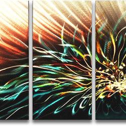 Matthew's Art Gallery - Metal Wall Art Abstract Modern Contemporary Flower Lotus - Name: Lotus