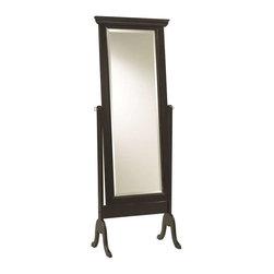 Cooper Classics - Cooper Classics Bar Harbour Cheval Mirror, Black Matte Distressed - -Black Matte Distressed finish