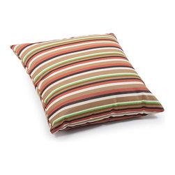 ZUO VIVA - Hamster Large Pillow Brown base mutistripe - Hamster Large Pillow Brown base mutistripe