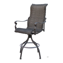 Darlee - Victoria Barstool - Cast aluminum frame is naturally rust resistant