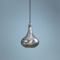 Norbello One Light Blue-Green Mercury Glass Mini Pendant - #2C649 | LampsPlus.co
