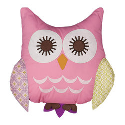 Lolli Living - Owl Pink Character Pillow - Owl Pink Character Pillow