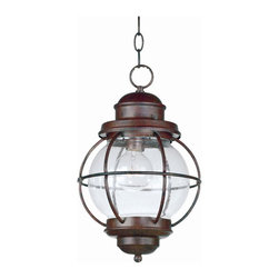 Kenroy Home - Kenroy 90965GC Hatteras Hanging Lantern - Harking back to sailors' lanterns, Hatteras' clear seeded glass will sparkle and brighten your home.  The lanterns work equally well indoors or out.