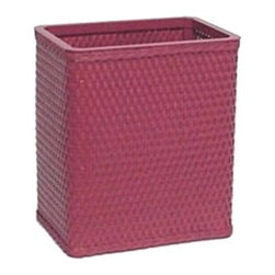 W C Redmon - Chelsea Collection Square Wastebasket - S426MO - Shop for Trash Receptacles from Hayneedle.com! The Chelsea Collection Square Wastebasket incorporates a familiar pattern of machine-woven wicker with the well-known Redmon quality of workmanship. With numerous high-quality enamel paint color options to choose from you'll be sure to find just the right one to suit your bathroom or bedroom decor. Wastebaskets are a necessary bathroom accessory but why not choose one that adds an artistic presence? This wastebasket from Redmon's Chelsea Collection will make a fine accent for any room in your home.About Redmon CompanyFor over 120 years the W.C. Redmon Company has been supplying America's major retailers with quality products for the home and family. The company's longevity however is no wonder because its business philosophy has been to strive always for magnanimity of purpose. Redmon provides quality-crafted and functional merchandise at affordable prices. Based out of Peru Ind. Redmon offers a variety of products for the home including bed and bath items a bongo bag collection infant and toddler supplies personal and health care items and pet supplies. Redmon is always adding new items and collections that reflect changing trends in today's lifestyles.