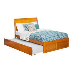 Atlantic Furniture - Atlantic Furniture Portland Bed with Urban Trundle in Caramel Latte-Full Size - Atlantic Furniture - Beds - AR8932017