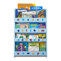 Tidy Books - Kid's Bookcase - This award winning kids bookcase makes books completely accessible; even the smallest child finds it easy to see and choose their books independently. This slimline and stylish kids bookcase is a practical storage system that allows a large capacity of children books to be displayed facing out. The children's bookcase instantly brightens up any kid's room by displaying the beautiful artwork on kids' books. Features: -Perfect book display and storage for your children. -Slimline design takes up very little floor space. -Front panels keep children's books in place. -Holds 85 children's books of all shapes and sizes. -Classic design. -Finished with eco-friendly water based lacquer with low VOC's, creating a natural finish that allows the wood grain to be just visible. -Tactile 3D alphabet. -Encourages independent reading. -Fixes safely and securely to the wall. -Manufactured to safety standard BSEN1727. -Handmade from sustainable wood. Testimonials and Additional Information: -Ordinary childrens bookcases, decorated or not, made no sense to me  books fall out. Plus, how can you put such thin books of different sizes on an ordinary shelf? A box doesnt work either as the kids cant see the covers. I wanted something that worked well for kids and their books and looked great too, so I created the original Tidy Books Childrens Bookcase. Geraldine, Founder and Designer, Tidy Books. -Since owning our Tidy Books, my little boy has played with his books more frequently in the past 4 weeks than he had in the past year. He now freely goes to the bookcase and takes out his favourites and brings them to me! Its presence also serves as a great reminder to read to him! Hayley. -8 in 10 kids who are above average readers have books of their own at home.  Source: National Literacy Trust Book Ownership Report 2011.
