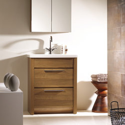 Kato 24 inch bath vanity. Walnut. - Made in Spain.
