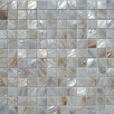 """Natural Varied Mother of Pearl 1"""" x 1""""  Tile - Mother of pearl tiles add new and unique elegance to your bathroom, backsplash, headboard, and more. Our Mother of Pearl tiles are handmade from genuine natural freshwater pearls. Although Mother of Pearl tiles are naturally thin, they are very strong and durable as well as easy to install in kitchens, bathrooms, and pools."""