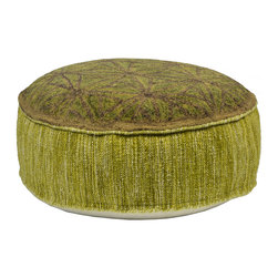 Habitat Home & Garden - Devina Pouf - The Devina Pouf is a beautiful piece to add extra seating to your home, or to use as a foot rest. Upholstered in a quality wool and cotton fabric, this lovely green piece will add flair to your decor.