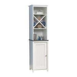Sauder - Sauder Caraway Linen Tower in Soft White - Sauder - Bathroom Cabinets - 414036 -
