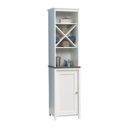 Sauder - Sauder Caraway Linen Tower in Soft White - Sauder - Bathroom Cabinets - 414036 -