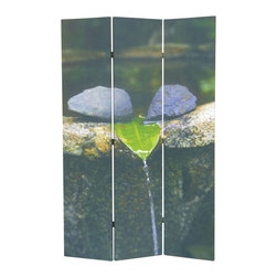 Adarn Inc - Modern Natural Scenery Scene Photography 3 Panel Wood Canvas Room Divider Screen - The natural style of this 3 Panel Wood Screen simply sweet and it is sure to compliment any home decor. Define space and create privacy with this screen, which is a simple, elegant way to divide a room. Room dividers are great for dorm rooms, bedrooms and other areas that need dividing or privacy solutions - also useful for creating separate spaces in a shared home office. This 3-panel folding screen features a wood frame with white canvas inlay. Add instant decor and privacy to your home with this beautiful floor screen.