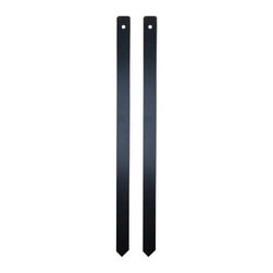 QualArc Lawn Stakes for Granite Address Plaque - When it comes to the QualArc Lawn Stakes for Granite Address Plaque, the name truly says it all. This pair of cast aluminum stakes features a black powder-coat finish for long lasting reliability and easily fix to any QualArc granite address plaque with the included mounting hardware. Display your house number wherever you like! Measures 18L x 1W inches.About QualArcBased in Rancho Cordova, California, QualArc makes the things that mark your home. Using unique and beautiful weatherproof materials and industry-standard manufacturing processes, they create address plaques, mailboxes, and more that are built to last. Stone, aluminum, steel, granite and more come together to create high-quality markers with high curb appeal. It's easy for friends and family to find your house when it's marked with a QualArc product.