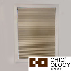 None - Chicology  Room Darkening Cordless Cellular Window Shade - With this cellular window shade you can darken and cool any room in your home. It comes in a soft tapioca color you can easily blend into your home's decor,and it's cordless so you can quickly open and close the blinds just by pushing or pulling them.