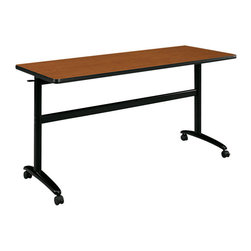 Hon - Basyx Worktable with Folding Top - In business, like in poker, you have to know when to fold. This versatile table offers a sturdy workstation or display area, and the top folds down so you can nest several together to save on storage space. Straight up, this one's aces.