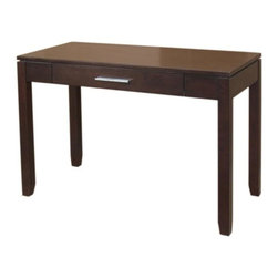 Simpli Home - Cosmopolitan Office Desk - Finish: Medium Auburn. Material: Pinewood. Assembly Required. 42 in. L x 20 in. W x 29.5 in. H ( 40 lbs. )