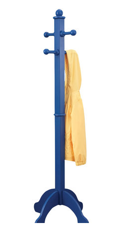 KidKraft - Kidkraft Home Indoor Kids Room Decor Wooden Hanger Portable Clothes Pole Blue - Our kid-sized Clothes Pole has a classic look and makes keeping your child's room tidy as easy as possible. This helpful clothes pole will look great in any young kid's room. Dimension: 19.25x 19.25x 54.75