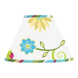 Sweet Jojo Designs - Layla Lamp Shade by Sweet Jojo Designs - The Layla Lamp Shade by Sweet Jojo Designs, along with the bedding accessories.