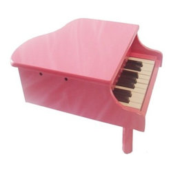 18-Key Kids Toy Grand Piano - Pink - Your kids may be more of the Beiber-type but we've tried out the 18-Key Kids Toy Grand Piano - Pink and we can tell you that 18 keys is enough to get through most of the Smiths catalog. They'll probably end up writing their own tunes and who could blame them when they can enjoy the durable wooden body and two-octave range of this kid-sized piano.