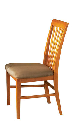 Atlantic Furniture - Atlantic Furniture Mission Side Chair in Caramel Latte (Set of 2) - Atlantic Furniture - Dining Chairs - AD771137 - The Atlantic Furniture Mission Dining Side Chairs are constructed from Eco-friendly solid hardwood and have an elegant Caramel Latte wood finish. This set of two dining side chairs feature a vertical slat back design and a Cappuccino colored seat cushion. The Mission Dining Side Chairs are perfect for a casual dining room setting.