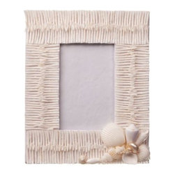 Seashell Picture Frame - Show off some favorite summer memories with this charming shell photo frame.