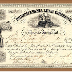 Buyenlarge - Pennsylvania Lead Company 12x18 Giclee on canvas - Series: Stocks & Bonds