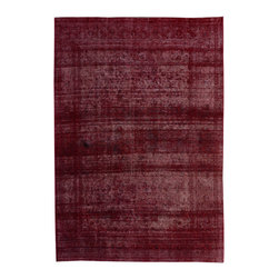 """ALRUG - Handmade Red/Maroon Persian Antique Overdyed Rug 9' 9"""" x 13' 11"""" (ft) - This Persian Overdyed design rug is hand-knotted with Wool on Cotton."""