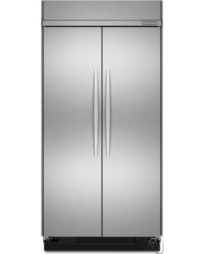 "Refrigerators And Freezers KitchenAid 48"" built in SS Fridge (KSSC48FTS)"