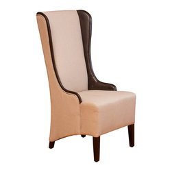 Great Deal Furniture - Bogart Tall Fabric Wingback Chair, Natural Beige - When your dining room or even living room needs a stunning focal piece, look no further than this high-back fabric chair. With its attention to detail and design, this piece will remain a unique addition to any room in your home.