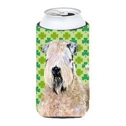 Caroline's Treasures - Wheaten Terrier Soft Coated St. Patrick's Day Shamrock Tall Boy Koozie Hugger - Wheaten Terrier Soft Coated St. Patrick's Day Shamrock Tall Boy Koozie Hugger Fits 22 oz. to 24 oz. cans or pint bottles. Great collapsible koozie for Energy Drinks or large Iced Tea beverages. Great to keep track of your beverage and add a bit of flair to a gathering. Match with one of the insulated coolers or coasters for a nice gift pack. Wash the hugger in your dishwasher or clothes washer. Design will not come off.
