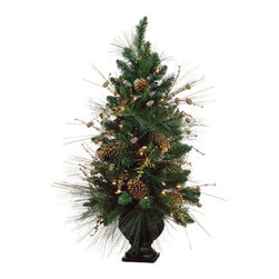 Silk Plants Direct - Silk Plants Direct Glitter Pine Cone and Pine Tree (Pack of 1) - Pack of 1. Silk Plants Direct specializes in manufacturing, design and supply of the most life-like, premium quality artificial plants, trees, flowers, arrangements, topiaries and containers for home, office and commercial use. Our Glitter Pine Cone and Pine Tree includes the following: