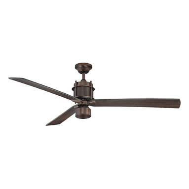 """Muir 56"""" 3 Blade Ceiling Fan - The Savoy House Muir ceiling fan is the picture of industrial chic sophistication! This cutting edge collection boasts a Byzantine Bronze finish , Chestnut blades, and an integrated halogen light kit with optional light cap. Finish: Byzantine BronzeBulb Wattage: 75Glass: White EtchedNumber of Bulbs: 1Type of Bulb: Mini-CanSpecial Features: RMT005 Remote Control IncludedFan Blade Color: ChestnutBulbs Included: YesBlade Pitch: 13. 5Light Kit Included: YesSafety Rating: UL, CULVoltage: 120"""