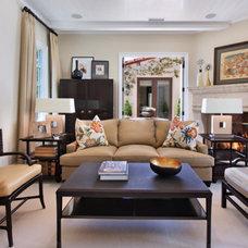 Traditional Living Room by von Hemert Interiors