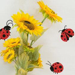 My Wonderful Walls - Lady Bug Stickers 6 - - Set of 6 ladybug sticker decals