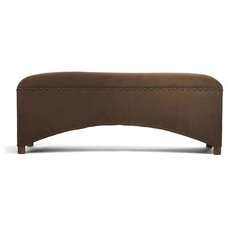 160 Brown Scalloped Bench