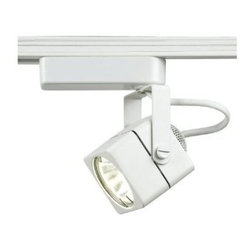 """WAC Lighting - WAC Lighting LHT-802 Low Voltage Track Heads Compatible with Lightolier Systems - 50W Single light track head for use with """"L"""" type connector. Equipped with a self contained electronic transformer. Available on 6"""", 12"""", 18"""", 36"""" or 48"""" inch extension rods (sold separately)."""