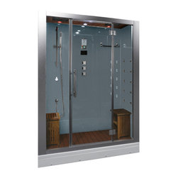 Ariel Platinum - Ariel Platinum DZ972F8 Steam Shower 59x32x87.4 - White - These fully loaded steam showers include massage jets, ceiling & handheld showerheads, chromotherapy, aromatherapy and built in radios to help maximize the therapeutic experience.