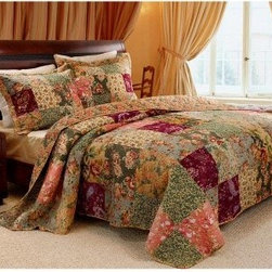 Greenland Home Fashions Antique Chic - 2 Piece Quilt Set - About Greenland Home FashionsFor the past 16 years, Greenland Home Fashions has been perfecting its own approach to textile fashions. Through constant developments and updates - in traditional, country, and forward-looking styles – the company has become a leading supplier and designer of decorative bedding to retailers nationwide. If you're looking for high quality bedding that not only looks great but is crafted to last, consider Greenland.