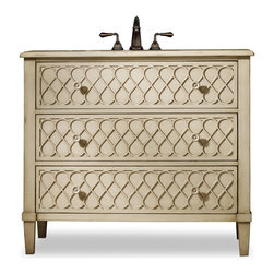 Cole and Co - Mallory Sink Chest - The Mallory Sink Chest brings a touch of the 1950s back into your d. Dimensions: 43 in. x 20 in.