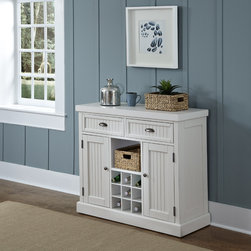 None - Nantucket Distressed Buffet - Give your home a cozy,inviting atmosphere with the Nantucket Buffet by Home Styles. It's sanded worn edges and distressed finish provides the casual elegance that's great for any home d�cor style.