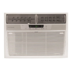 Frigidaire A/C - 10000 BTU, w/ Electronic Controls and Remote, Multi-step Fan Speed - Frigidaire's FRA103CW1 10,000 BTU 115V Window-Mounted Compact Air Conditioner is perfect for rooms up to 500 square feet. It quickly cools the room on hot days and quiet operation keeps you cool without keeping you awake. Ready-Select electronic controls allow you to set the comfort level to your preference, while a convenient temperature-readout displays the set temperature. A full-function remote control allows you to precisely control the temperature and fan speed from across the room. The multi-speed fan features three different fan speeds for more cooling flexibility and the 8-way comfort control design allows you to easily control the direction of the cool air, wherever the unit is mounted. Plus, the fresh air vent and exhaust controls remove odors and freshen the air while the antibacterial mesh filter cleans the air for a cool, comfortable environment.10,000 BTU compact air conditioner for window-mounted uses standard 115V electrical outlet|Quickly cools a room up to 500 sq. ft.|Dehumidification up to 2.7 pints per hour|Ready-select electronic controls allow you to easily select options with the touch of a button|Full-function remote control allows you to precisely control the temperature and fan speed from across the room|Low power start-up conserves energy and saves you money|Quiet operation keeps you cool without keeping you awake|Effortless temperature control maintains preset room temperature so you will remain at your comfort level|Effortless restart resumes operating at its previous settings when power is restored to your unit|8-way comfort control design allows you to easily control the direction of the air wherever the unit is mounted|  frigidaire| fra103cw1| fra103| cooling| window| mounted| window-mounted| air| conditioner| ac| a/c| compact| 10|000| 10000| btu| btus| 115| 115v| 115-  Package Contents: air conditioner|remote control|2 AAA batteries|installation kit|manual|warranty  This item cannot be shipped to APO/FPO addresses