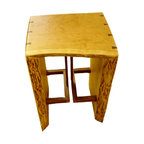 Tables, Benches, & Vanities - one of a set of four bar stools built from raw slab material. fuelling woodworking