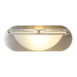 Premier - One Light Fluorescent 12 inch Vanity Fixture - Brushed Nickel - AF Lighting 617616 12in. W by 4-5/8in. H by 6in. E Contemporary Fluorescent Lighting Collection 1-Light Bath Vanity, Brushed Nickel.