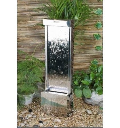 modern outdoor fountains by GardenSite