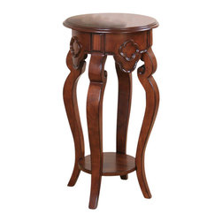 All Things Cedar - Ornamental Plant Stand - Classic Accents: A truly inviting selection of Classic Accent Furniture FEATURING Console Sofa Tables Wooden Wine Magazine Racks, Nesting Tables, and Glass Cherry Curio Cabinates. Item is made to order.