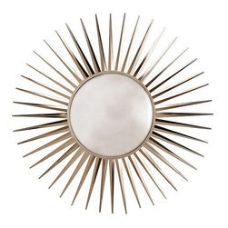 Arteriors Home - Arteriors Home Astro Convex Mirror - Arteriors Home 3275 - Arteriors Home 3275 - Starburst convex mirror with spiked iron rays in a polished nickel finish.